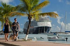 Netherlands, Bonaire Island, Cruiseship